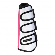Harry Hall Hi Viz Reflective Wrap Boot (Silver/Pink)