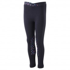 Harry Hall Junior Rosette Print Jodhpurs (Navy/Emerald)