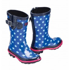Harry Hall Junior Hale Wellington Boots (Blue)