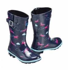 Harry Hall Junior Hale Wellington Boots (Navy)