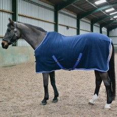 Whitaker Ripley Fleece Rug (Navy/Royal Blue)