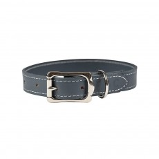 Ralph & Co Firenze Leather Dog Collar (Mist Grey)