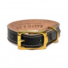 Ralph & Co Milano Leather Dog Collar (Black)