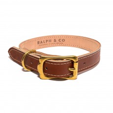 Ralph & Co Siena Leather Dog Collar (Tan)