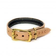 Ralph & Co Verona Leather Dog Collar (Oyster)