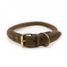 Ralph & Co Braided Rope Dog Collar (Olive)