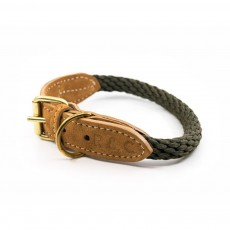 Ralph & Co Braided Rope Dog Collar (Khaki)