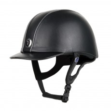 Gatehouse Jeunesse Leather Riding Hat (Black)