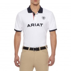 Ariat Men's Team Logo Polo (White)