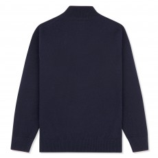 Musto Adults Shooting Zip Neck Knit (True Navy)