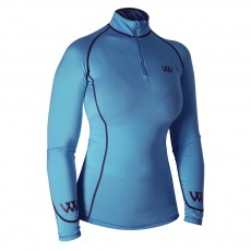 Woof Wear Ladies Performance Riding Shirt (Powder Blue)