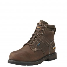 Ariat Men's Groundbreaker 6'' H2O Safety Boots (Dark Brown)
