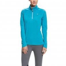 Ariat Women's Conquest 1/2 zip (Atomic Blue)