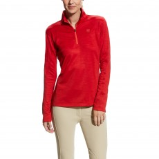 Ariat Women's Conquest 1/2 zip (Salsa)