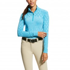 Ariat (Sample) Women's Odyssey 2.0 1/4 Zip (Atomic Blue Heather)