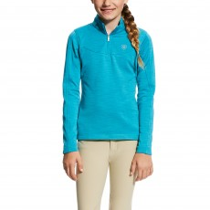 Ariat (Sample) Girl's Conquest 1/2 Zip (Atomic Blue)