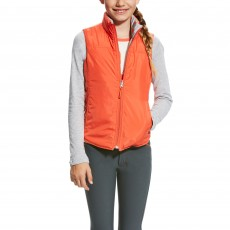 Ariat Girl's Emma Reversible Vest (Coastal Grey Ponies)