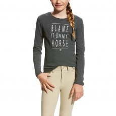Ariat (Sample) Girl's Excuses Tee (Graphite Heather)