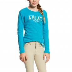 Ariat (Sample) Girl's Logo Tee (Atomic Blue)