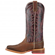 Ariat Women's Vaquera Western Boots (Khaki/Sunset Purple)