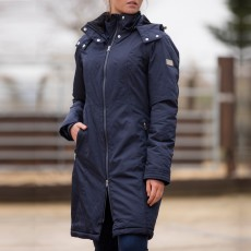 Mark Todd Women's Long Waterproof Performance Coat (Navy)