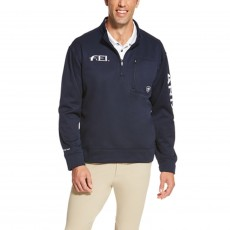 Ariat Men's FEI Team Logo Quarter Zip (Navy)