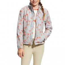 Ariat (Sample) Girl's Laurel Jacket (Coastal Grey Ponies)