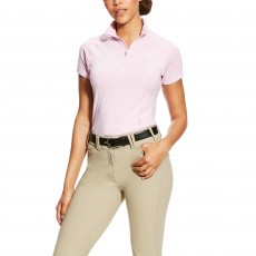 Ariat Women's Odyssey Seamless Short Sleeve 1/4 Zip (Lilac Pearl Heather)
