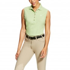 Ariat Women's Prix Sleeveless Polo (Lime Chaser Heather)
