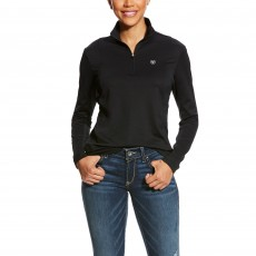 Ariat Women's Sunstopper 1/4 Zip (Black)