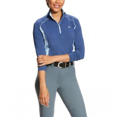 Ariat Women's Tri Factor 1/4 Zip (Indigo Fade)