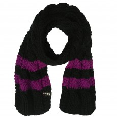 Ariat FEI Cable Knit Scarf (Black/FEI Purple)