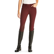 Ariat (Sample) Women's Heritage Elite, Low Rise, Knee Patch Breeches (Malbec)