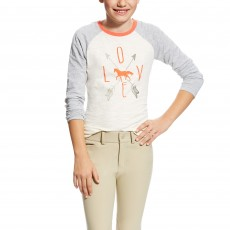 Ariat Girl's Cupid Tee (White)