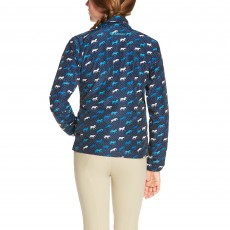 Ariat Girl's Laurel Jacket (Navy Horse Print)