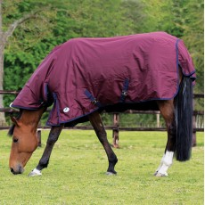 JHL Essential Mediumweight Combo Turnout Rug (Burgundy & Navy)