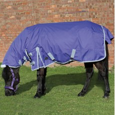 Mark Todd Mediumweight Pony Combo Turnout Rug (Purple & Grey)