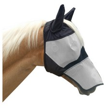 KM Elite Fly Mask Long with Ears
