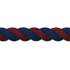 JHL Super Cotton Lead Rope (Navy/Burgundy)