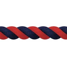 JHL Cotton Lead Rope (Red/Navy)