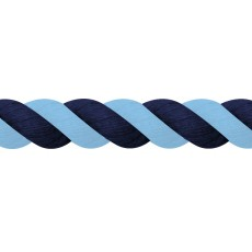 JHL Cotton Lead Rope (Navy/Light Blue)