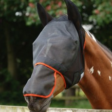 Equilibrium Field Relief Fly Mask Max (Black/Orange)