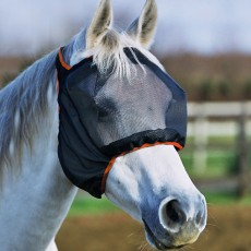 Equilibrium Field Relief Midi Fly Mask No Ears (Black/Orange)