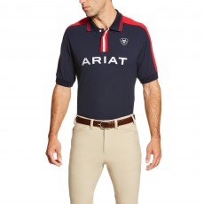 Ariat Men's New Team Polo (Navy)