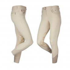 LeMieux Women's Pace Knee Patch Breeches (Beige/Beige)