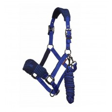 LeMieux Vogue Fleece Headcollar & Leadrope (Navy/Royal Blue)