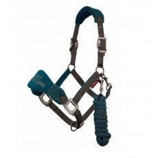 LeMieux Vogue Fleece Headcollar & Leadrope (Peacock/Grey)