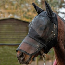 Mark Todd Padded Fly Mask With Nose and Ears (Black)