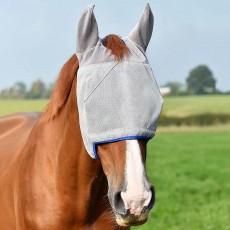 Equilibrium Field Relief Midi Fly Mask With Ears (Grey/Blue)
