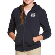 Ariat (Sample) Girl's Milton Hoodie (Navy)